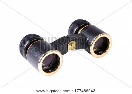 The opera glasses isolated on white background