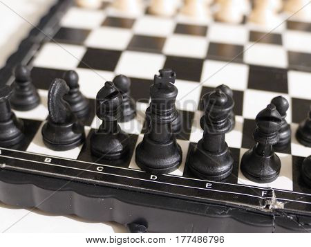 Black And White Chess Figures