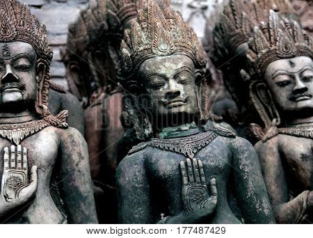 Hindu gods hands