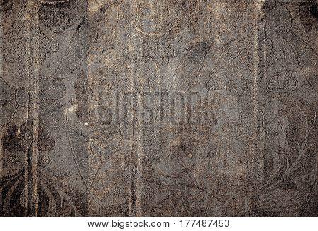 old worn wall cloth wallpaper