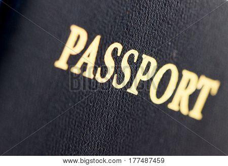 macro image of a us passport