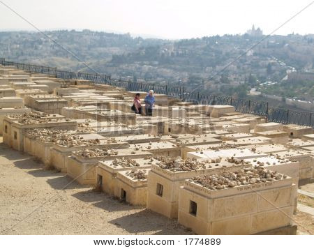 Cemetery On The Mountain Of Olives - View
