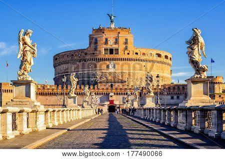 Castel Sant'angelo, Mausoleum Of Hadrian, Rome, Italy