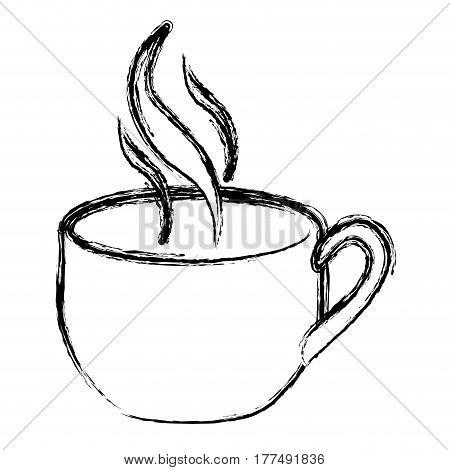coffee cup with steam icon, vector illustration design