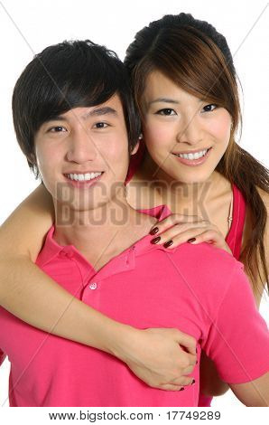 Young happy couple in love