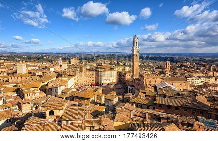 Piazza Del Campto, Old Town Of Siena, Tuscany, Italy