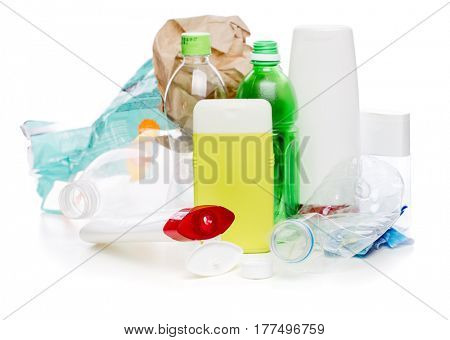 Picture of used plastic bottles