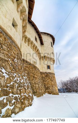 Detail of the old castle Veliki Tabor in Croatia, a Croatia's northwestern fortification system.
