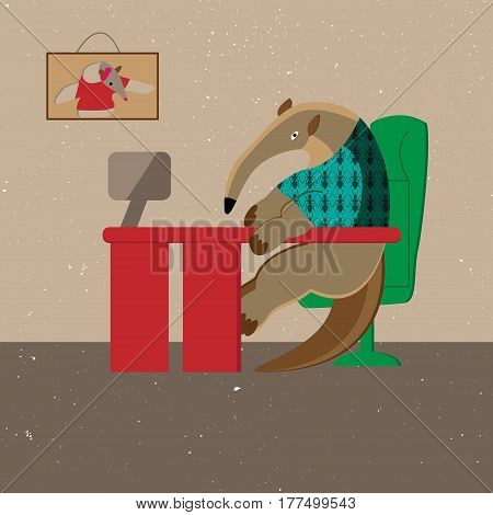 The daily office routine of the anteater
