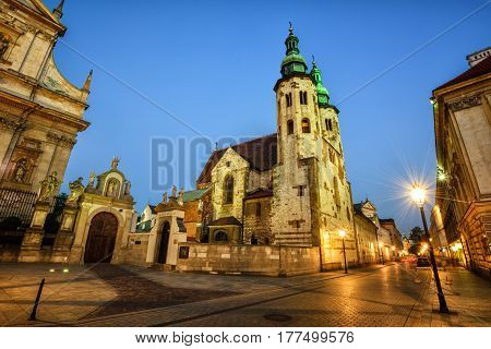 Church Of St Andrew, Krakow Old Town, Poland