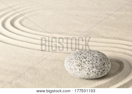 Spa wellness zen stone garden. Relaxation and meditation towards spirituality. Meditative background.