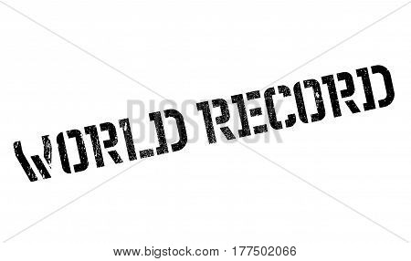 World Record rubber stamp. Grunge design with dust scratches. Effects can be easily removed for a clean, crisp look. Color is easily changed.