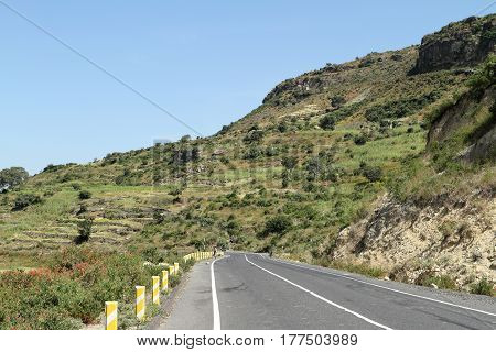 Roads along the Rift Valley in Ethiopia