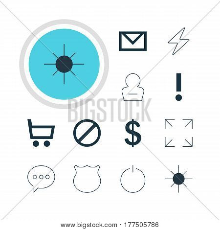 Vector Illustration Of 12 Member Icons. Editable Pack Of Message, Guard, Wheelbarrow And Other Elements.