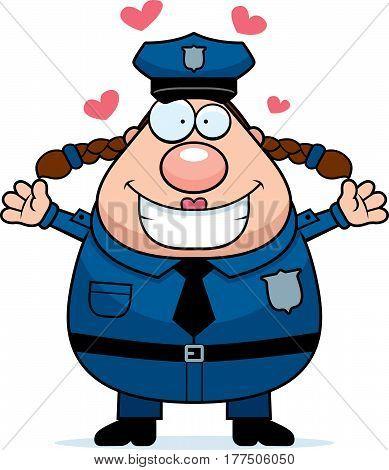 Police Woman Hug