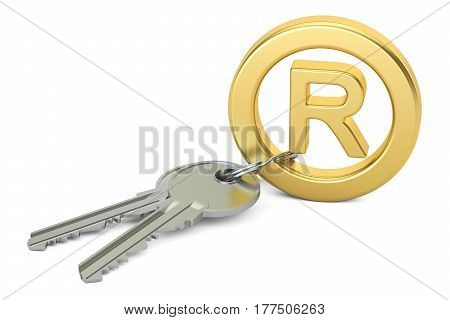 Registered Trademark concept 3D rendering isolated on white background