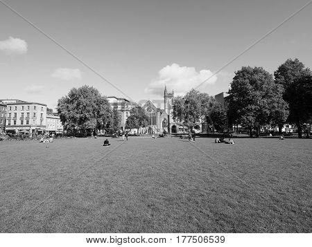 College Green In Bristol In Black And White
