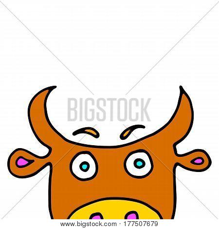 cow vector cartoon farm cute animal illustration