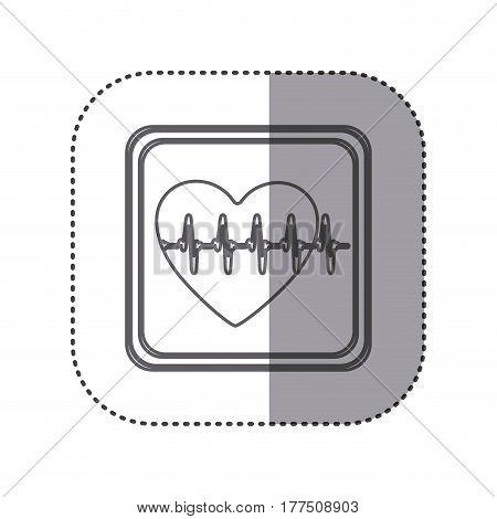 figure emblem heartbeat icon, vector illustration design