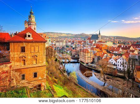 Cesky Krumlov Old Town, Czech Republic