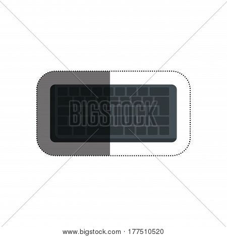 computer keyboard isolated icon vector illustration design