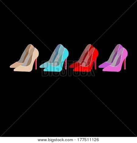 vector fashion illustration silhouette sketch footwear design