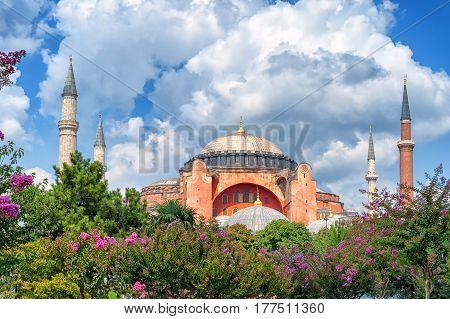 Hagia Sophia And Minarets, Istanbul, Turkey