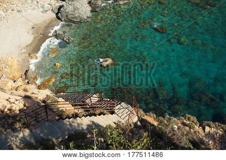 Stairs Leading To Sea