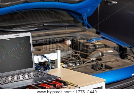 Closeup Of Modern Electronic Diagnostic Table