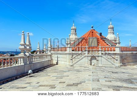 Church Roof In Lisbon, Portugal.