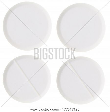 Medical pills isolated on a white background