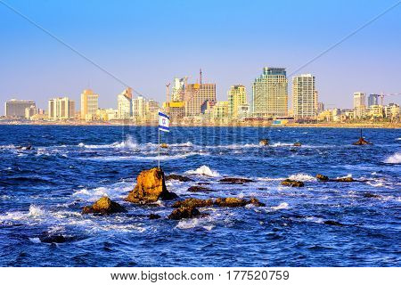 Skyline Of Tel Aviv City, Israel