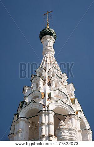 Russian Ortodox Chapel In Yaroslavl, Russia. Golden Ring Of Russia