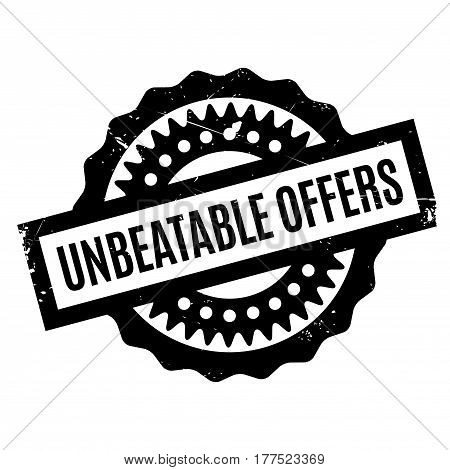Unbeatable Offers rubber stamp. Grunge design with dust scratches. Effects can be easily removed for a clean, crisp look. Color is easily changed.