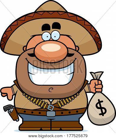 Cartoon Bandito Moneybag