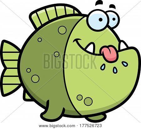 Hungry Cartoon Piranha