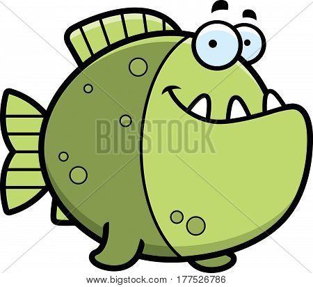 Cartoon Piranha Smiling