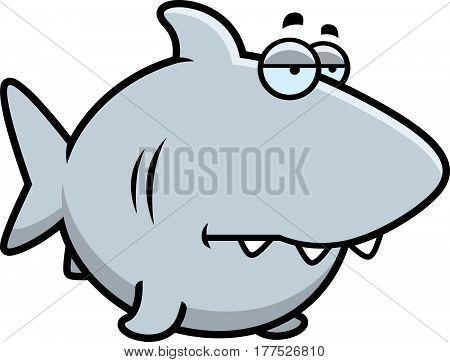 Bored Cartoon Shark