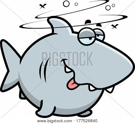 Cartoon Drunk Shark