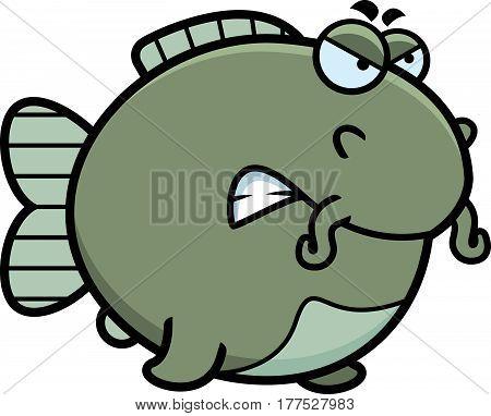 Angry Cartoon Catfish