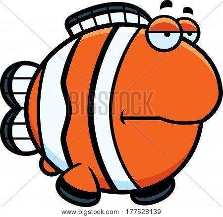 Bored Cartoon Clownfish