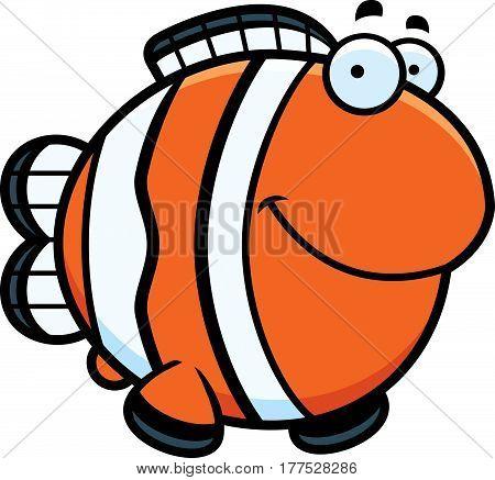 Cartoon Clownfish Smiling