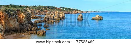 Atlantic Rocky Coast View (algarve, Portugal).