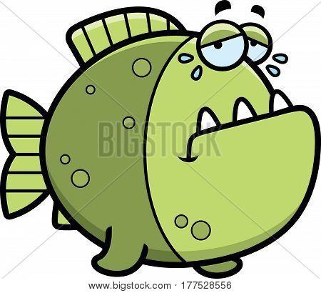 Crying Cartoon Piranha