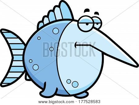 Bored Cartoon Swordfish