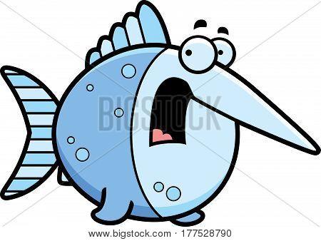 Scared Cartoon Swordfish