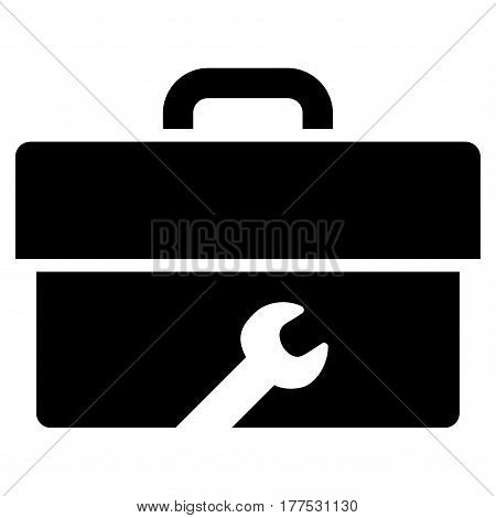 Toolbox vector icon. Flat black symbol. Pictogram is isolated on a white background. Designed for web and software interfaces.