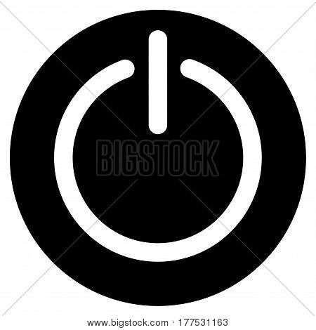 Turn Off Power vector icon. Flat black symbol. Pictogram is isolated on a white background. Designed for web and software interfaces.