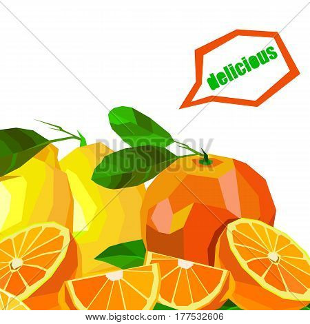 Collection of fruits. lemon, food, fruit, citrus, orange, vector, yellow, fresh