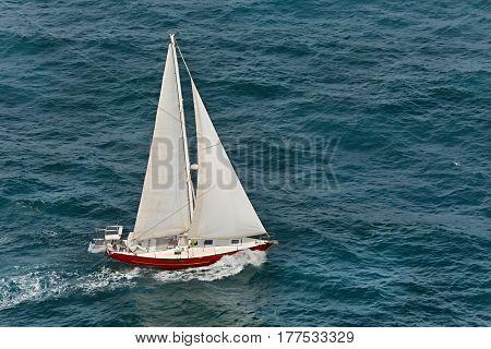 Sailing boat onnn the sea